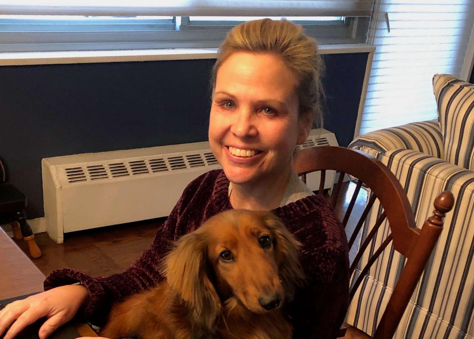 Teacher with dog