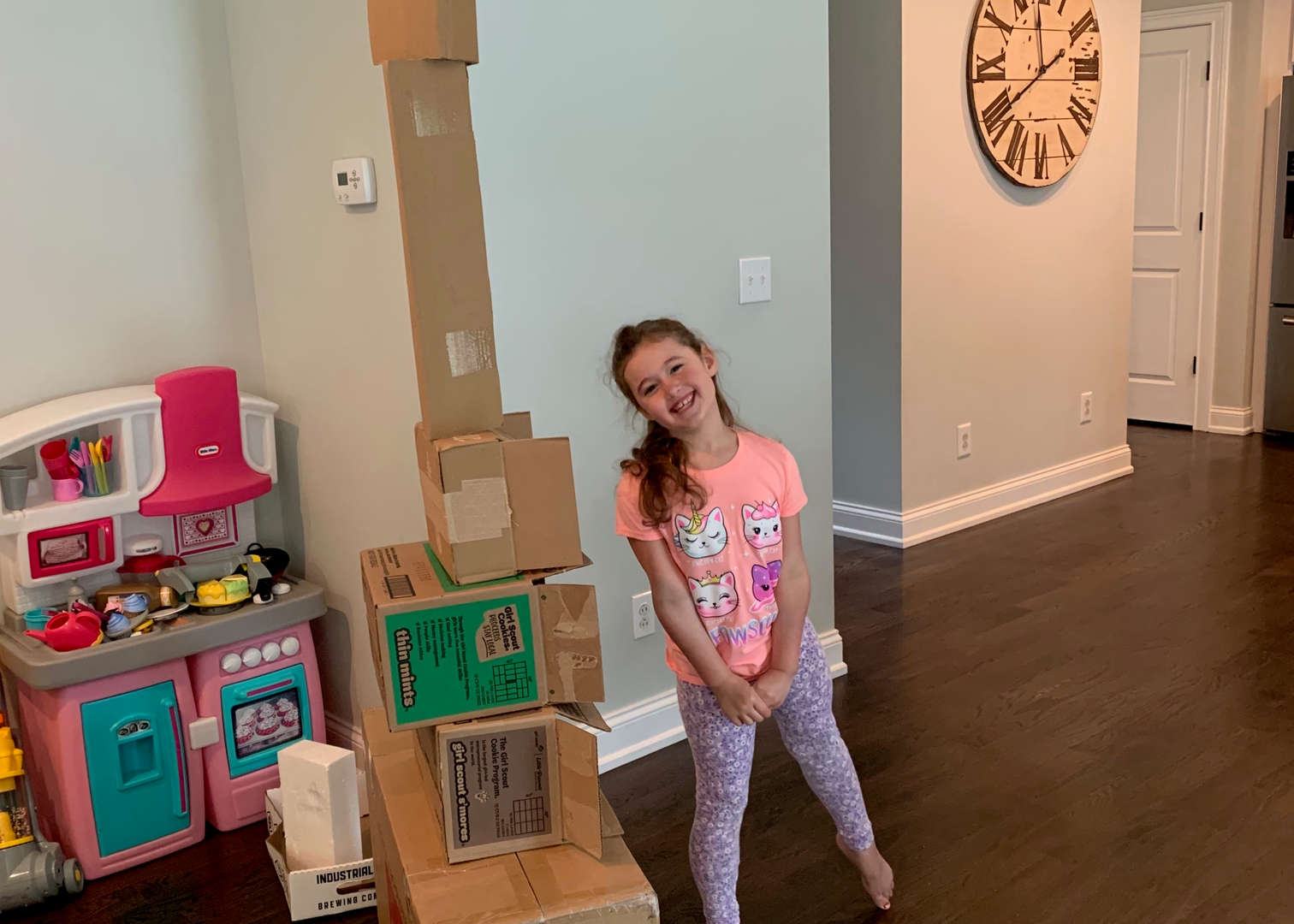 Girl with tower
