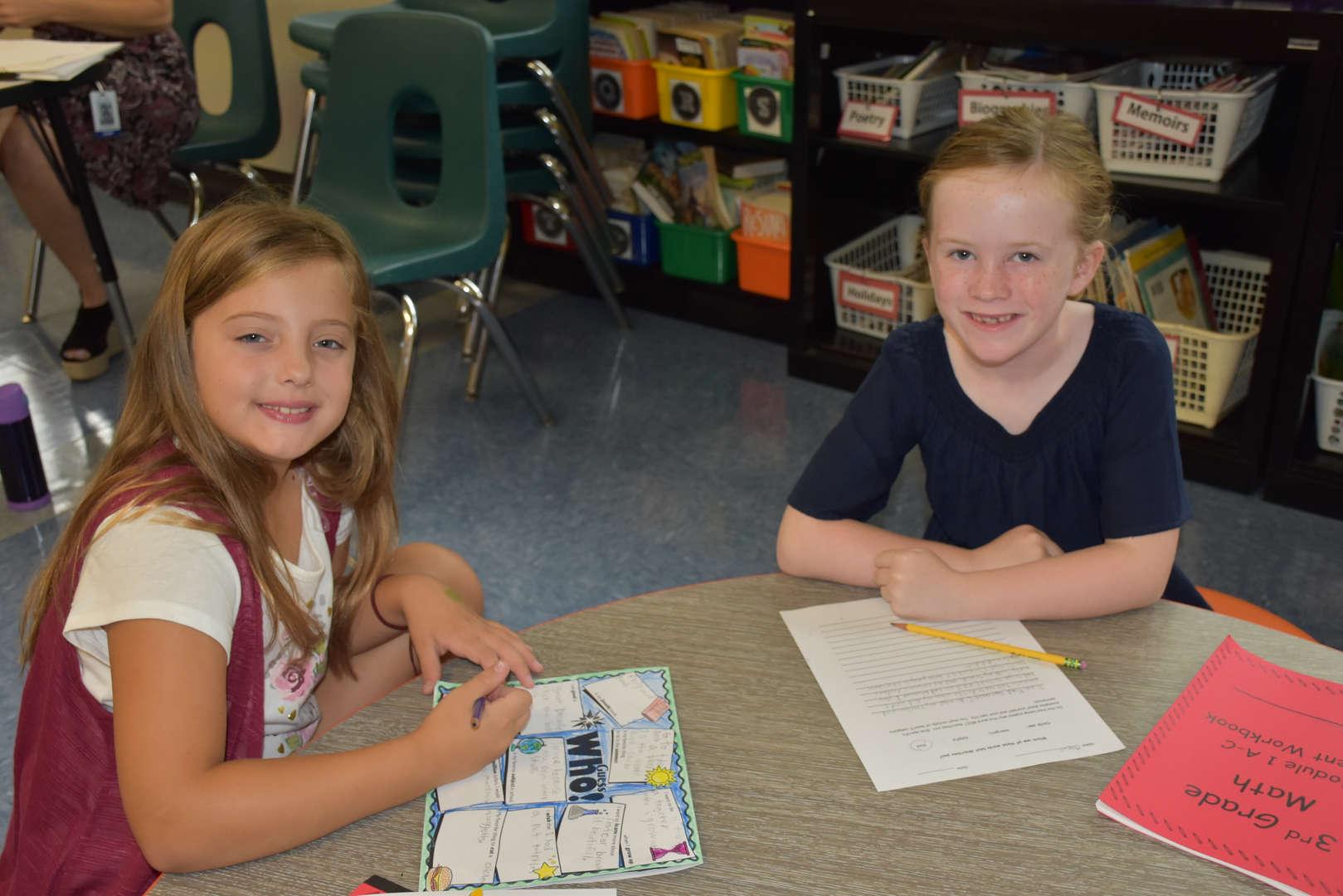 Students at desks