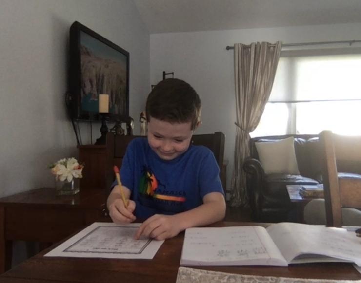Second Grade Student Writing