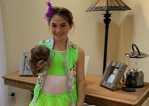 Student dressed for Wacky Wednesday