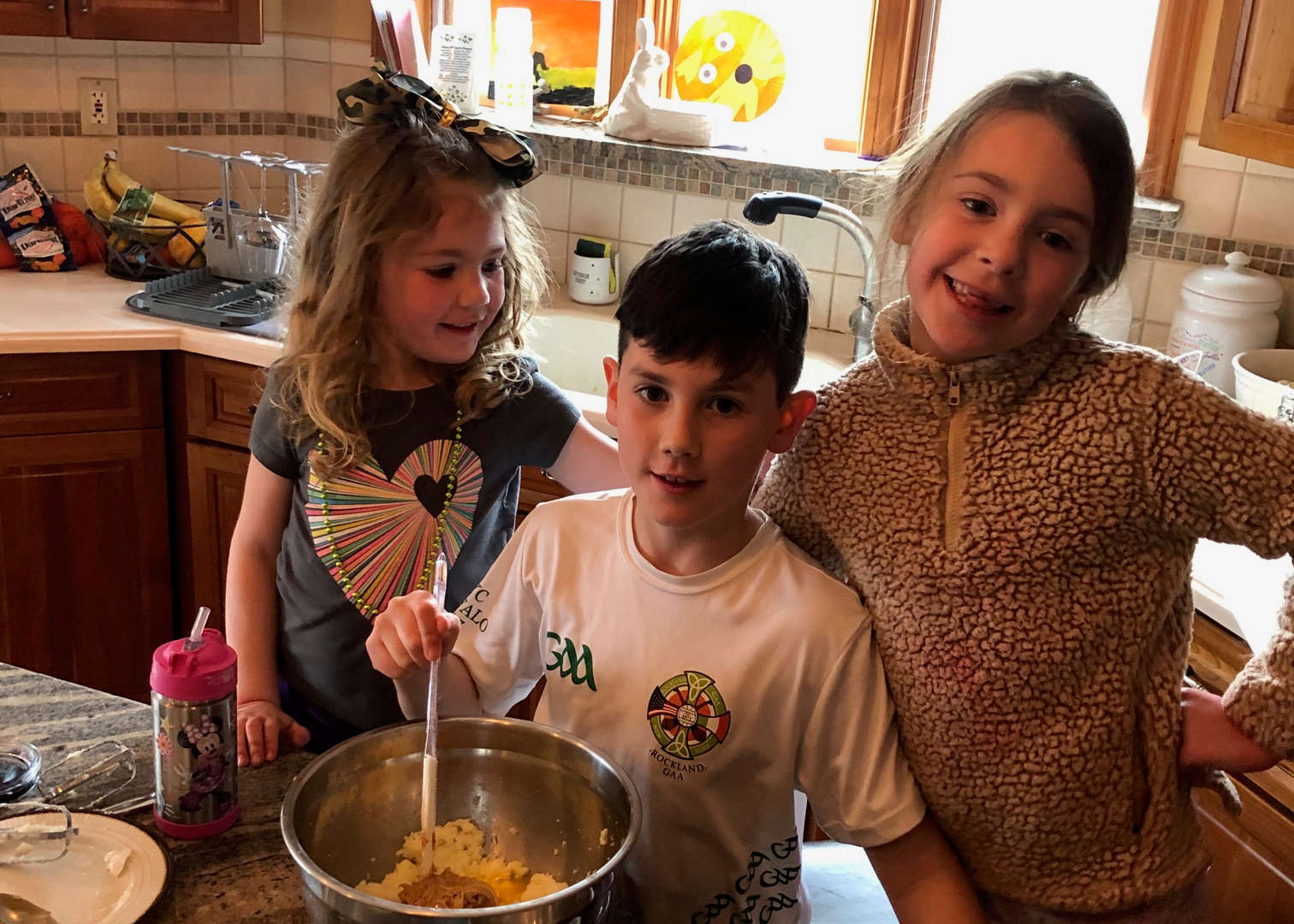 Students cooking at home