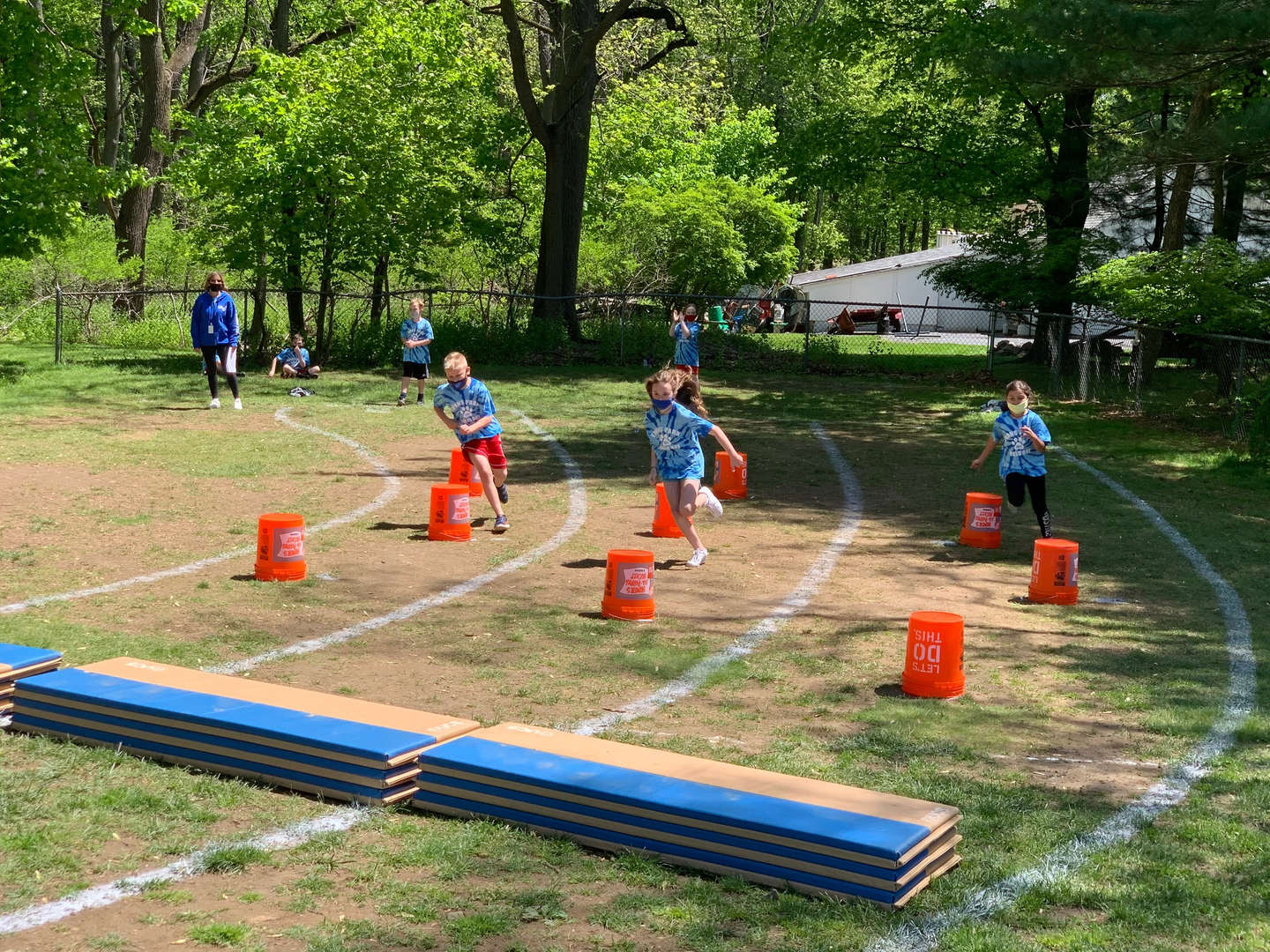 Students participating in Field Day