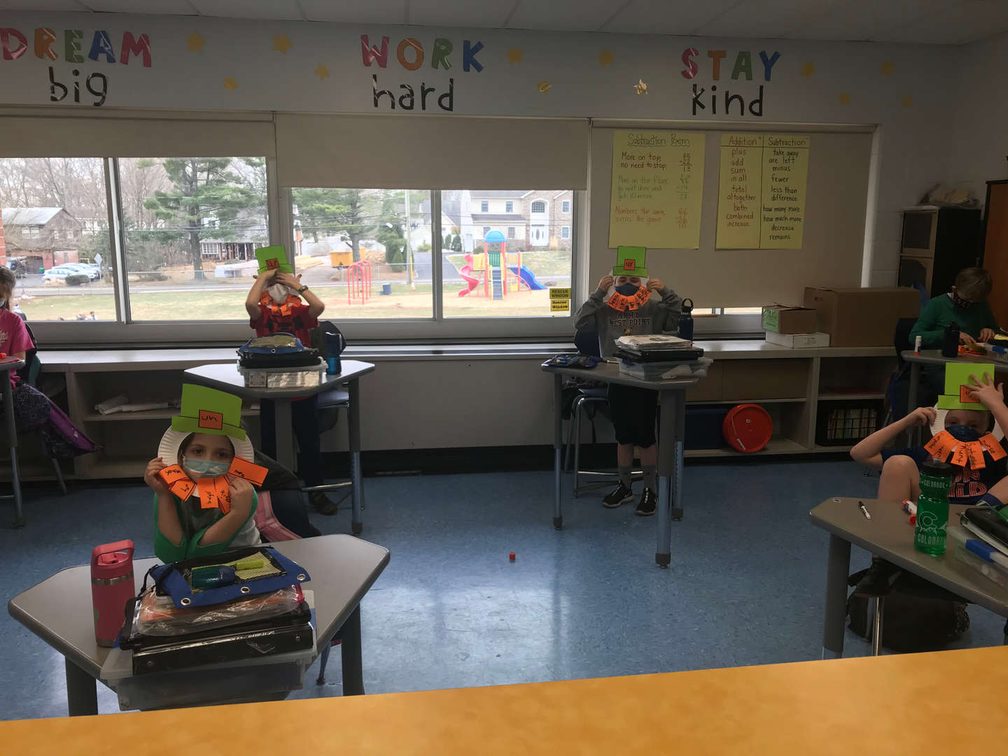 Second Grade St. Patrick's Day Masks