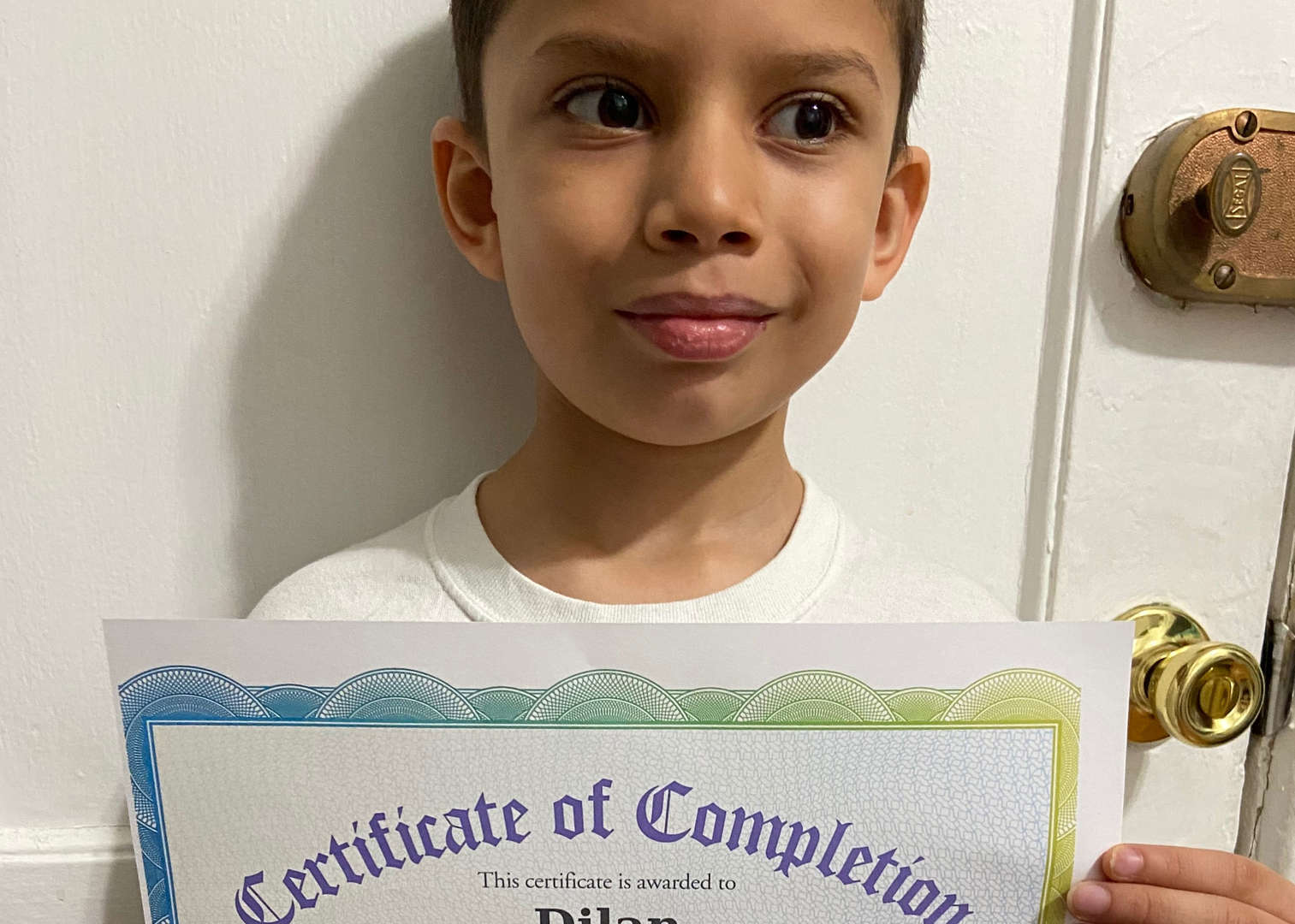 Dilan with certificate