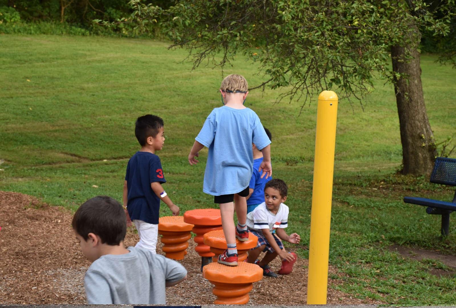 Students on playground