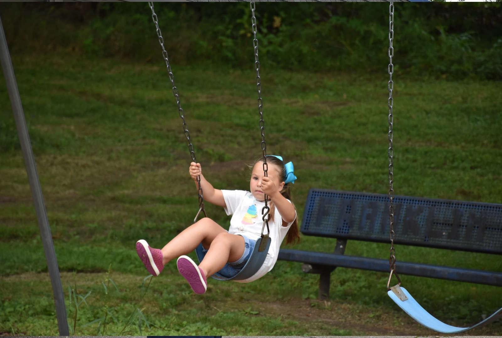 Student on playground