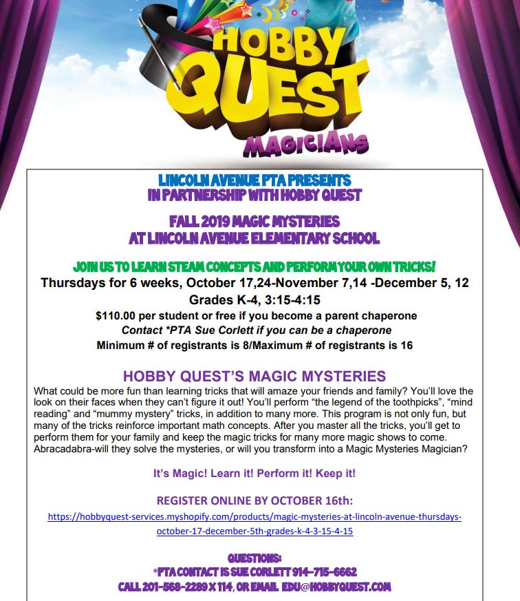 Hobby Quest flyer