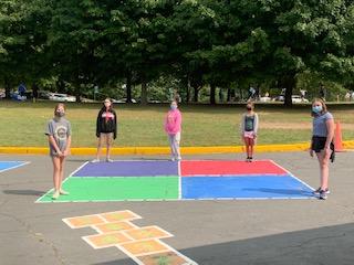 4 Square during recess