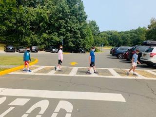 Students in the Crosswalk