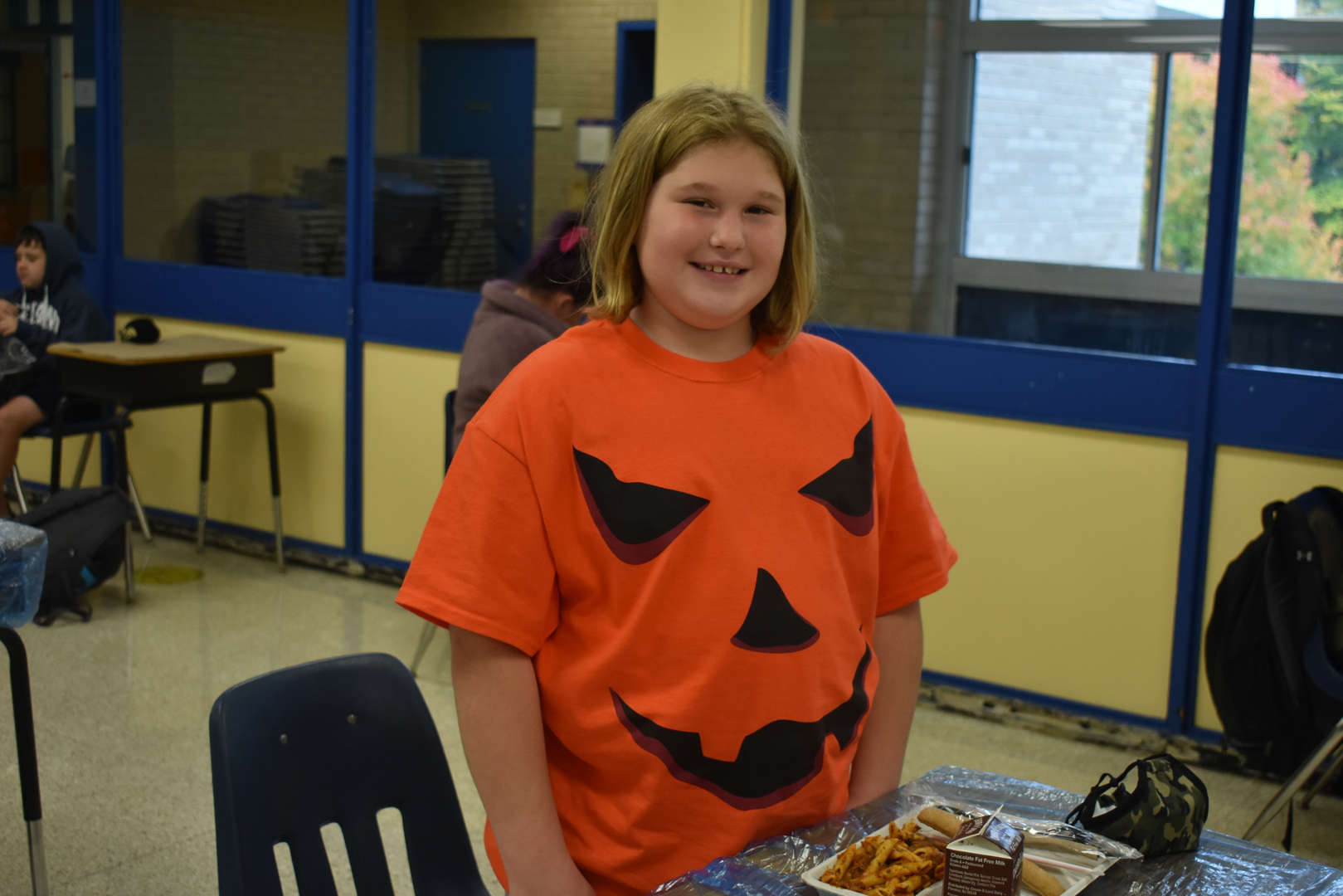 Halloween shirt at lunch