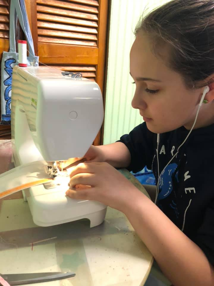 Sewing Face Masks for Health Care Workers