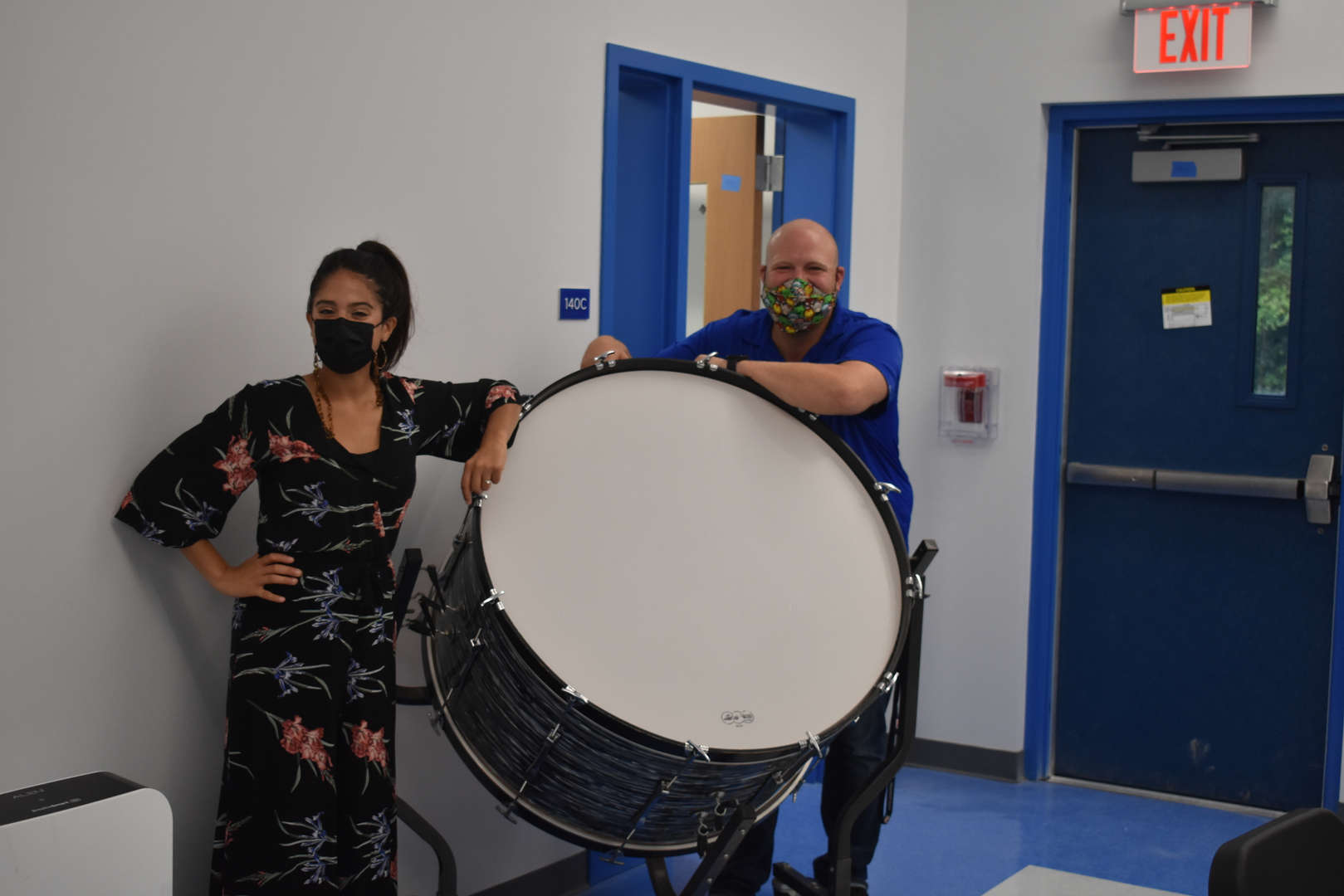 teachers with a drum