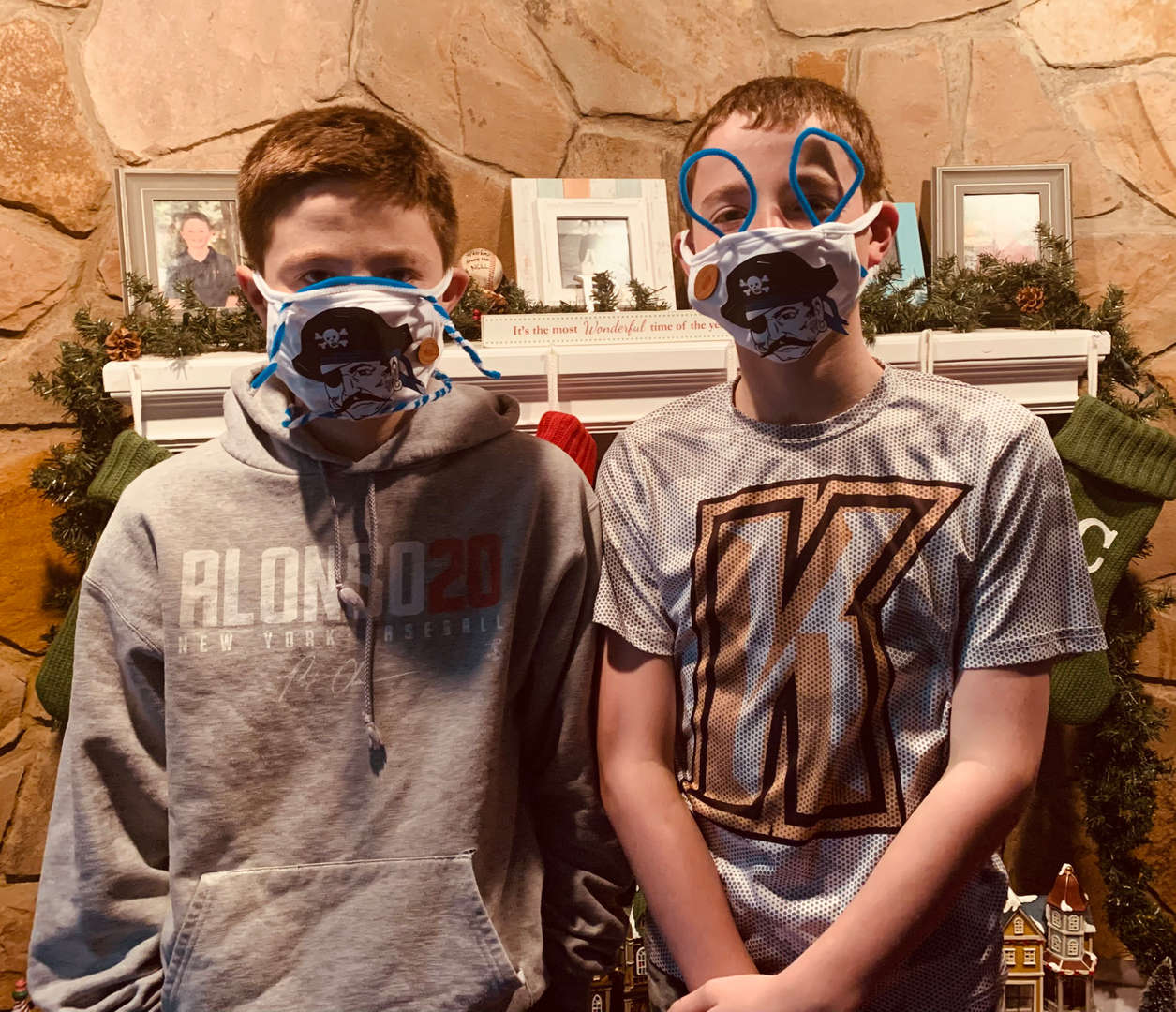 twins in masks