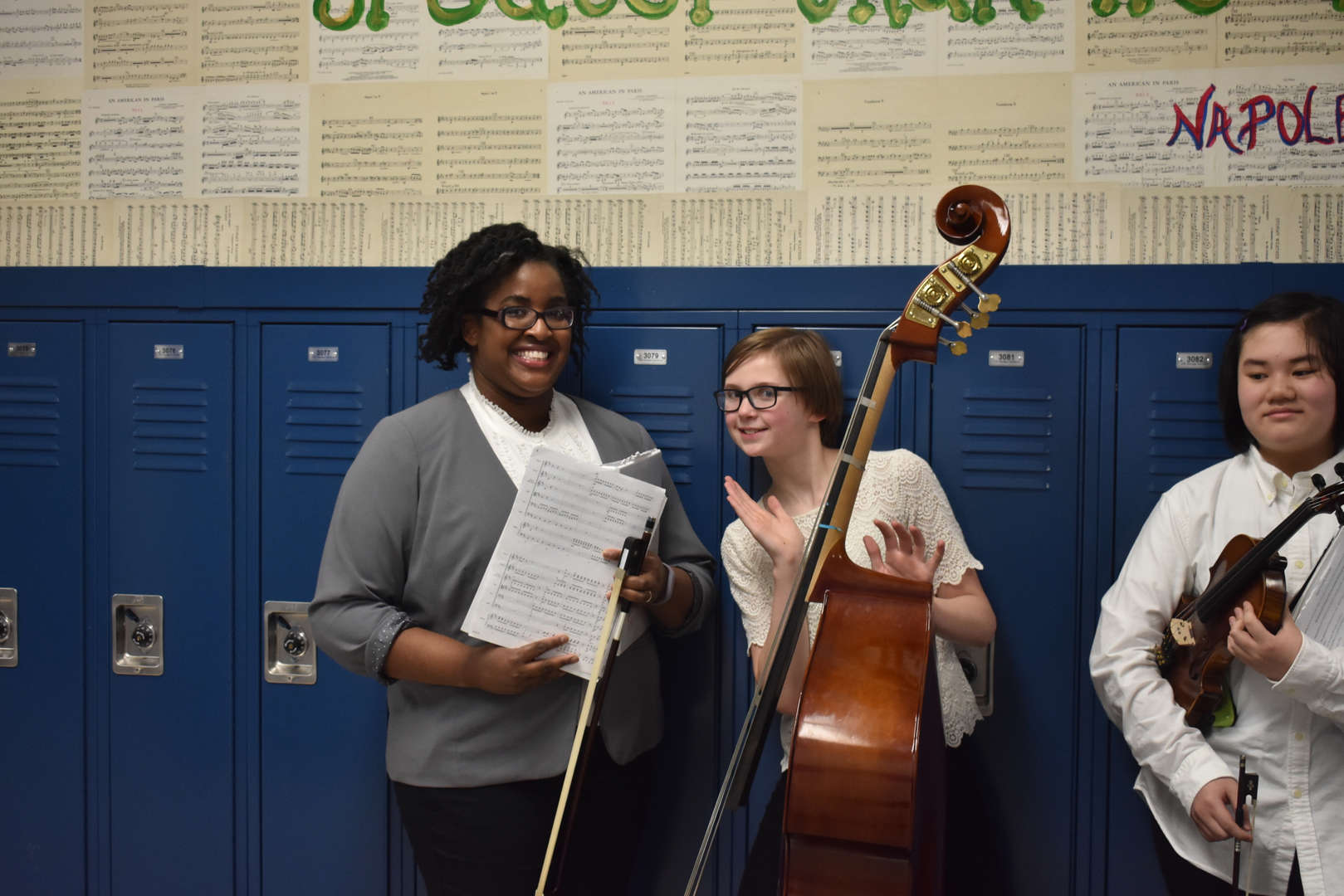 Student and Orchestra Director