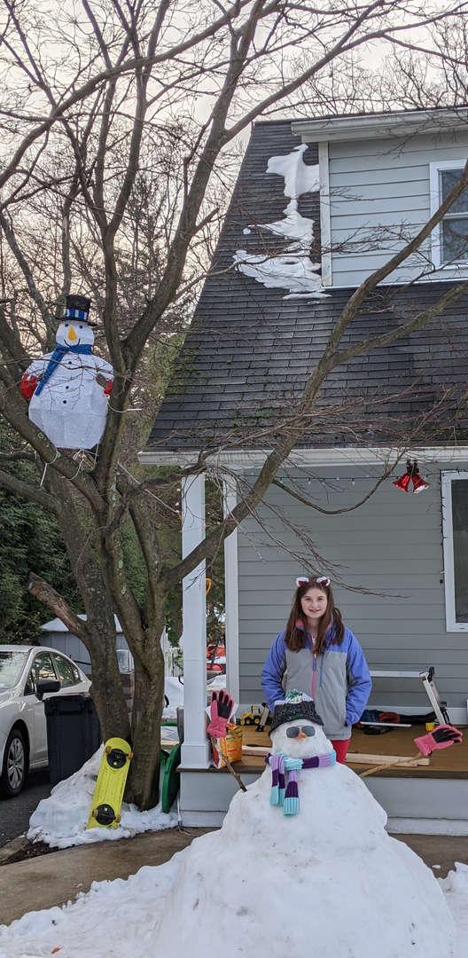 snowman in a tree