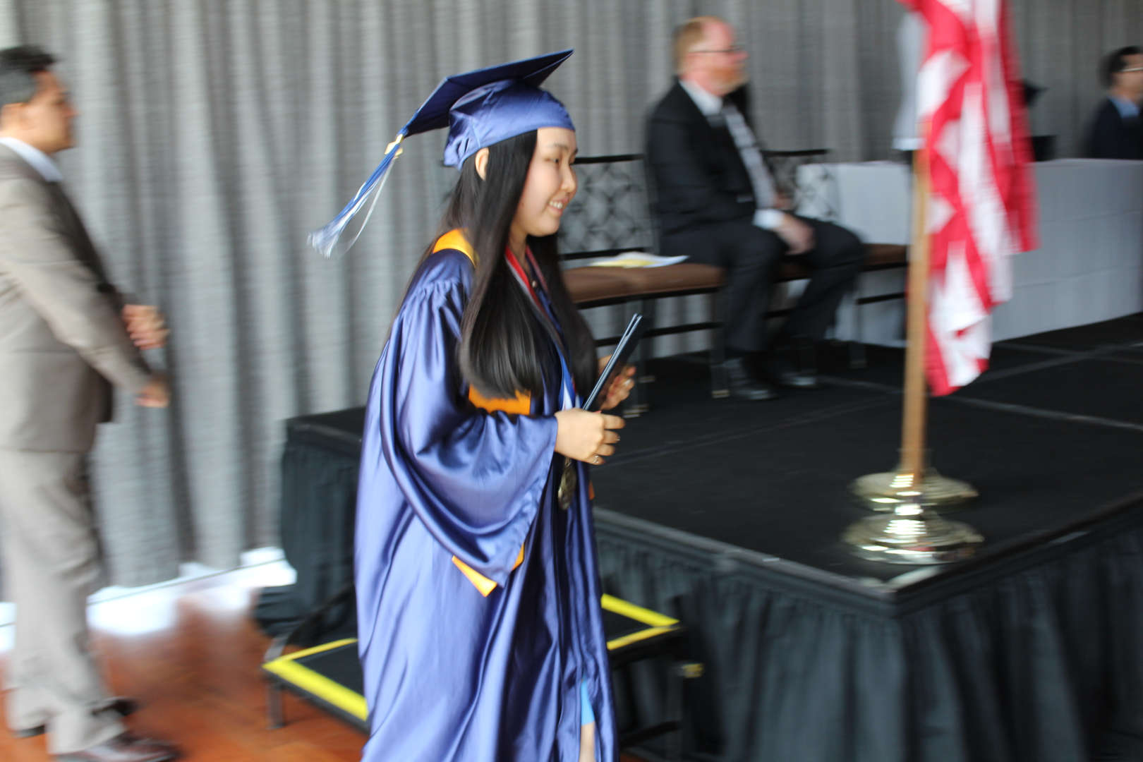 receive diploma