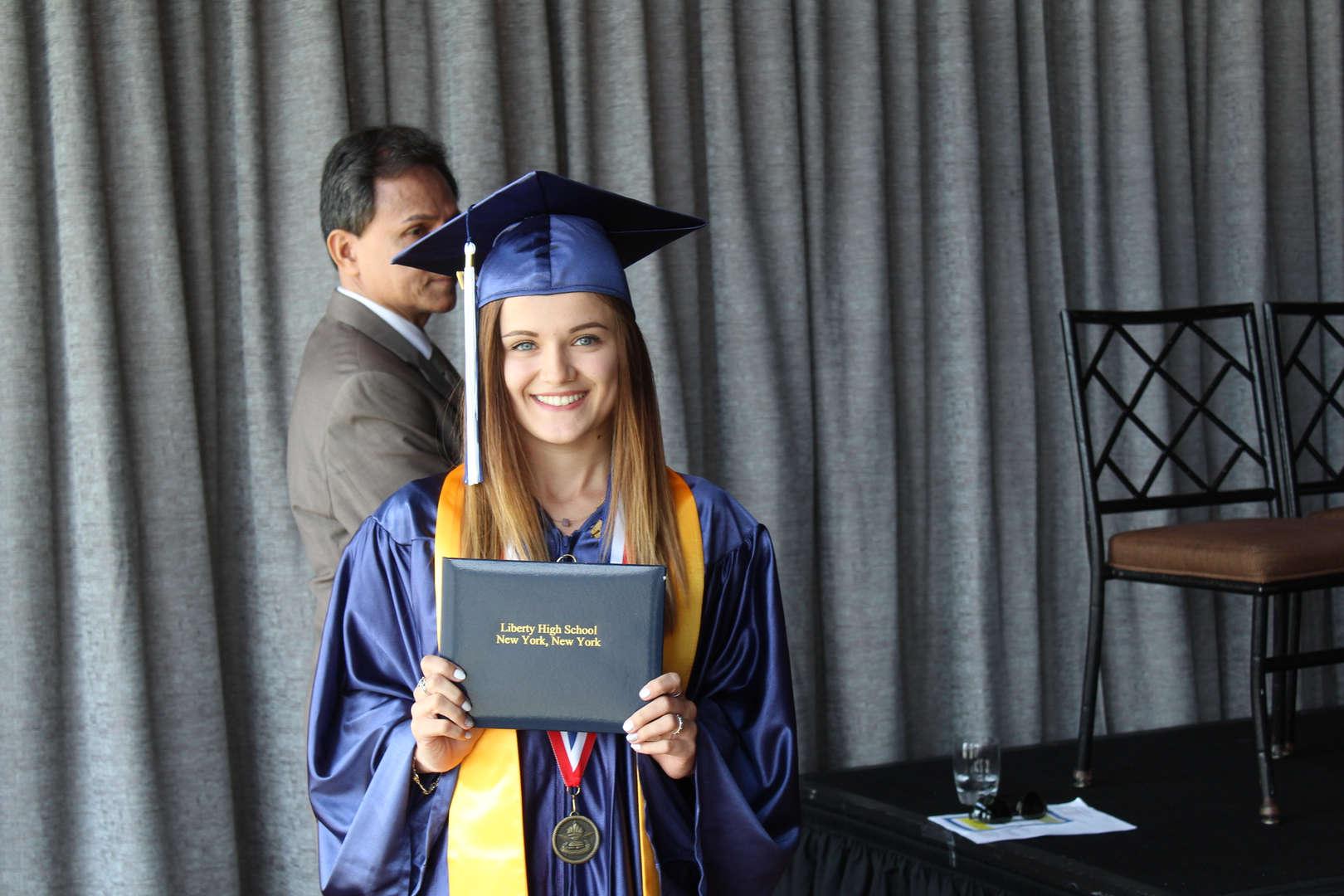receive diploma 2