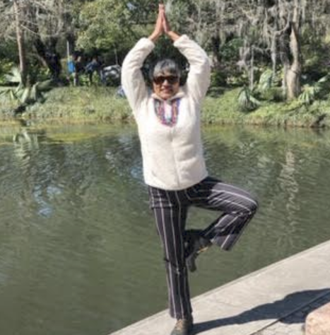 Ms. Chaitram's Yoga Pose