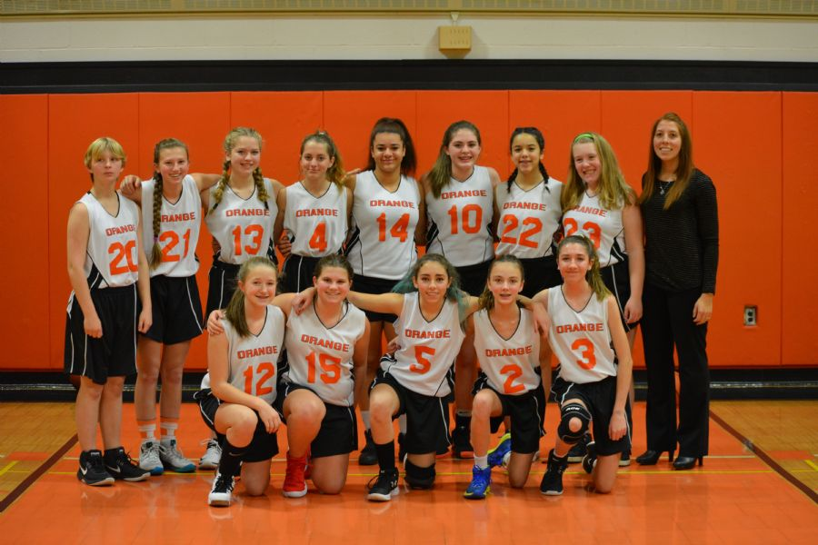 Girl's Modified Basketball team picture