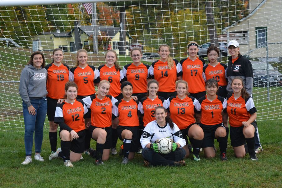 Varsity Girl's Soccer team picture