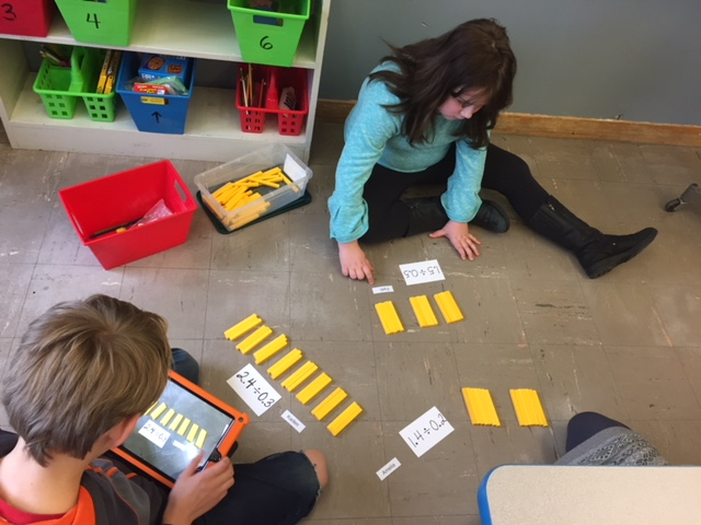 Students using Manipulatives