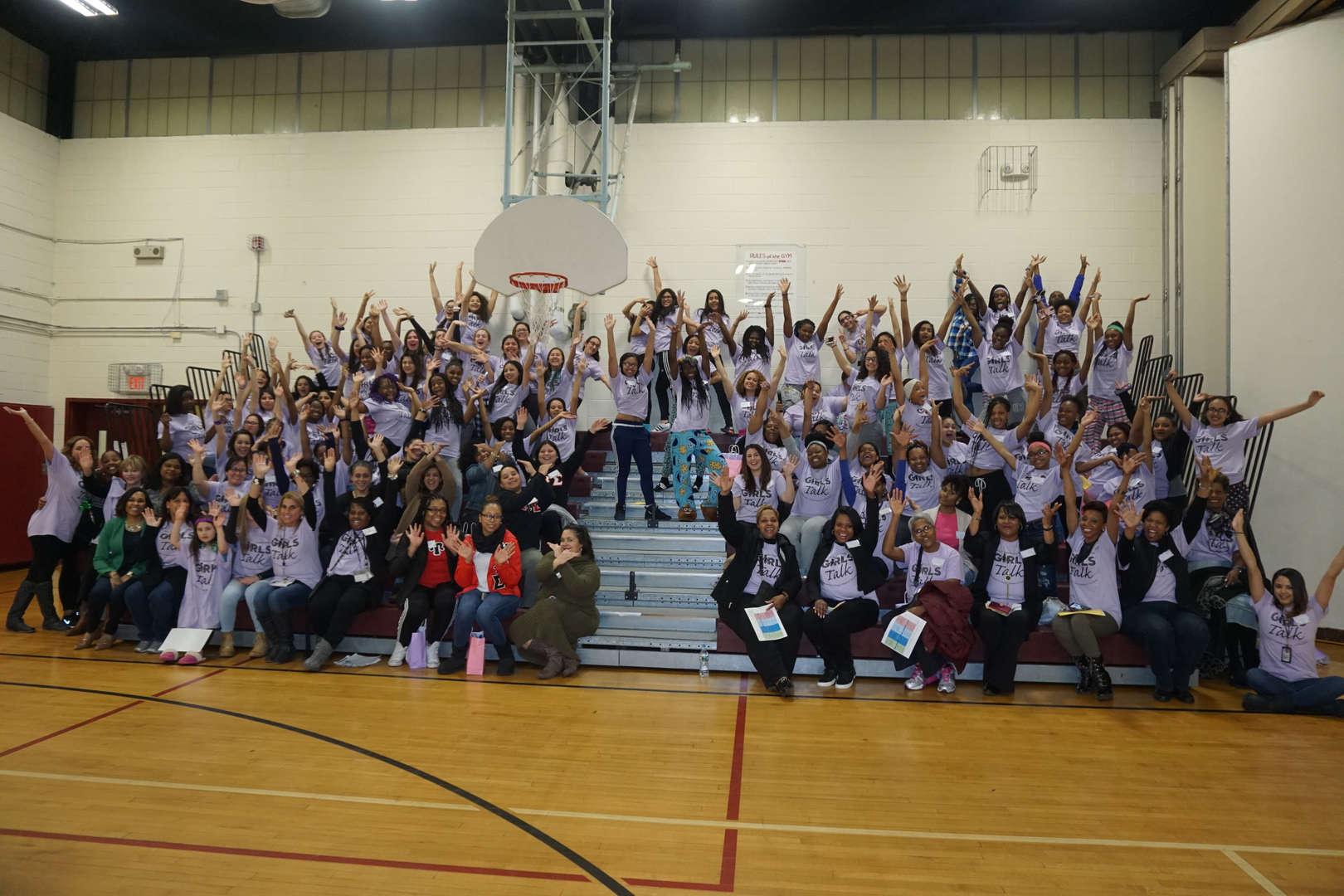 JDMS teachers cheering