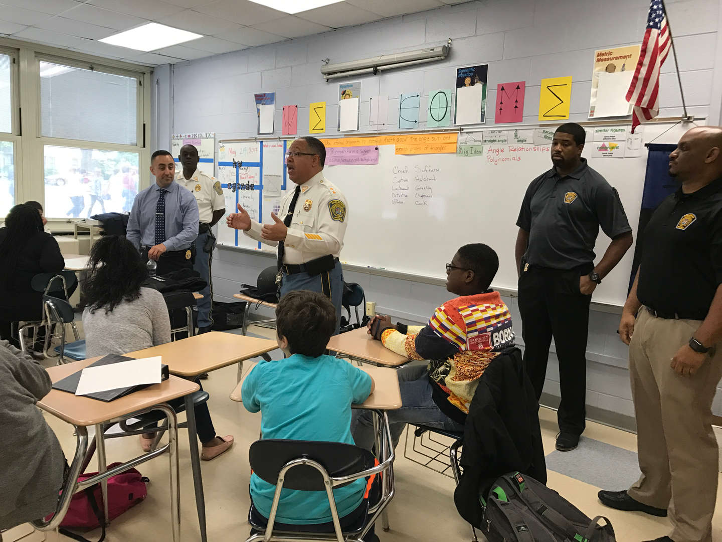 Role models talk to students