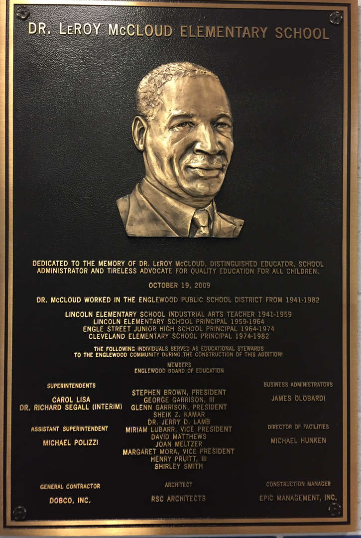 Plaque of Dr. LeRoy McCloud