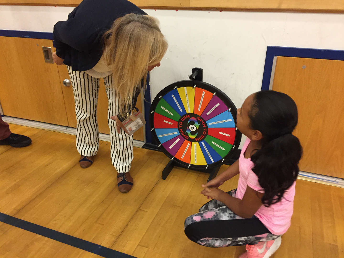 Prize wheel for PBSIS winners