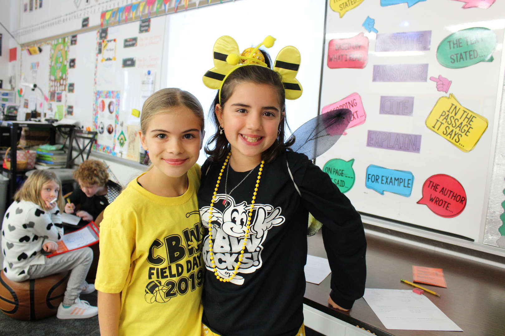 CBW students show their school spirit on Bee Day.