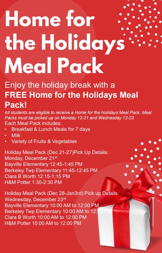 Meal Pack pick up information