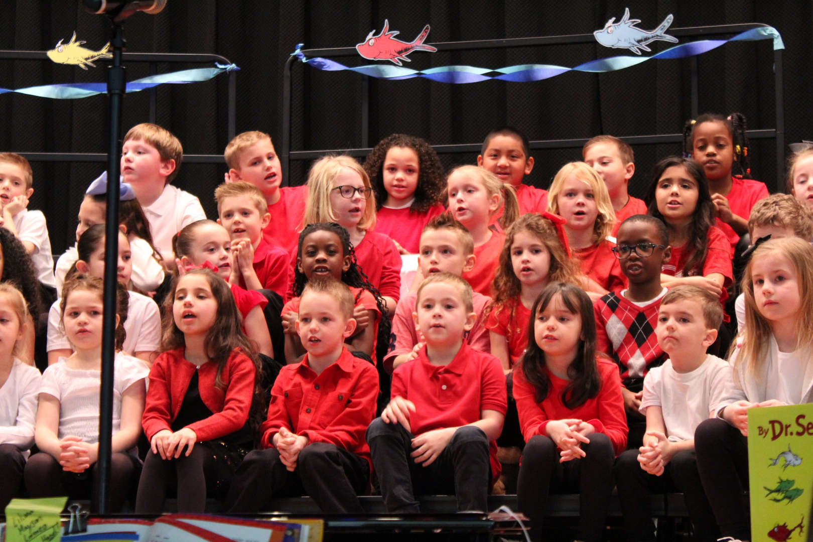 CBW students perform in an assembly.