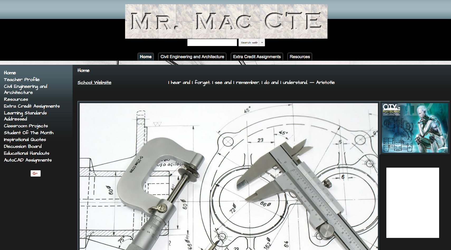 Home page of Engineering and Architecture web site