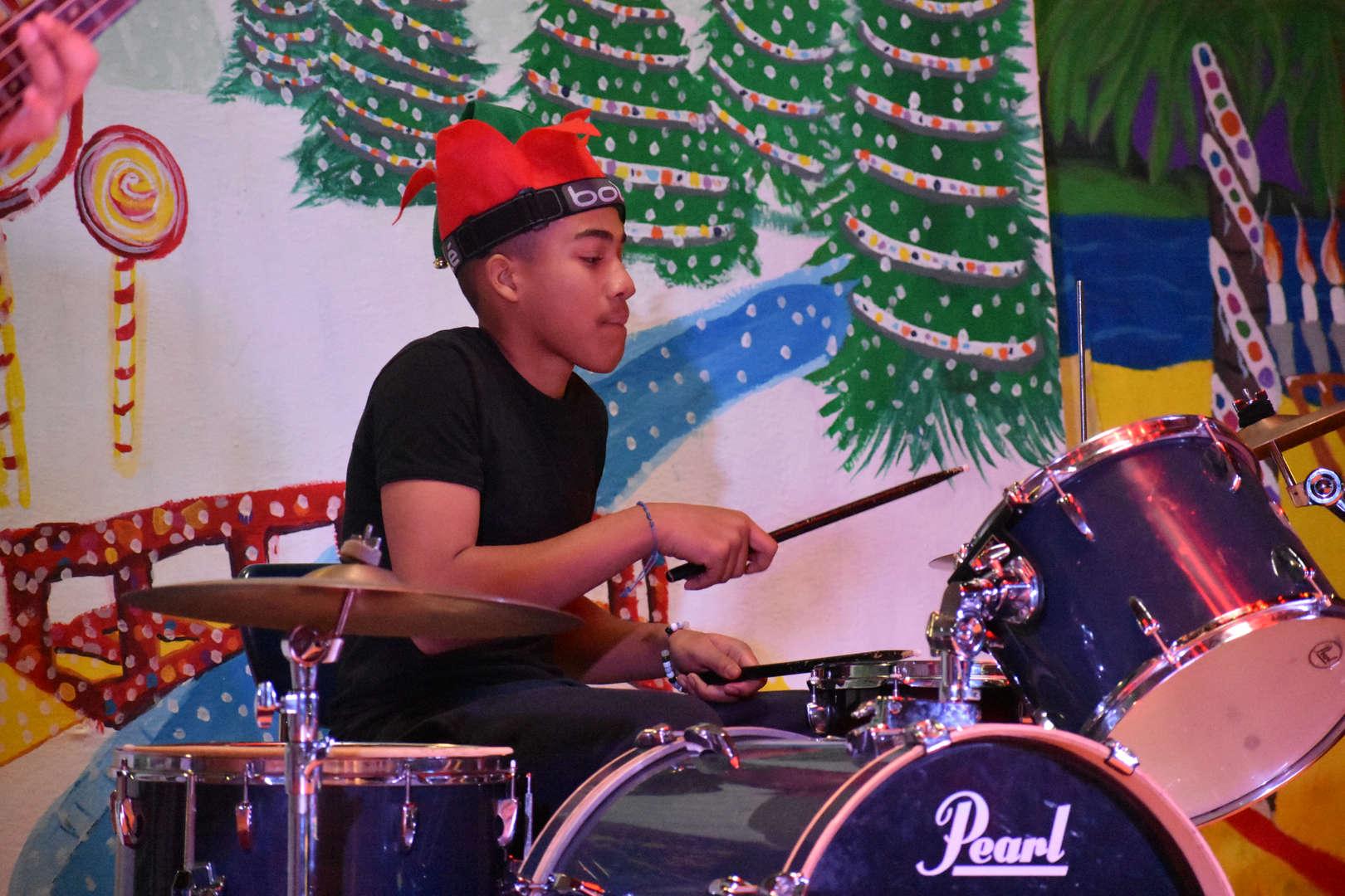 NSLA Rock Band drummer