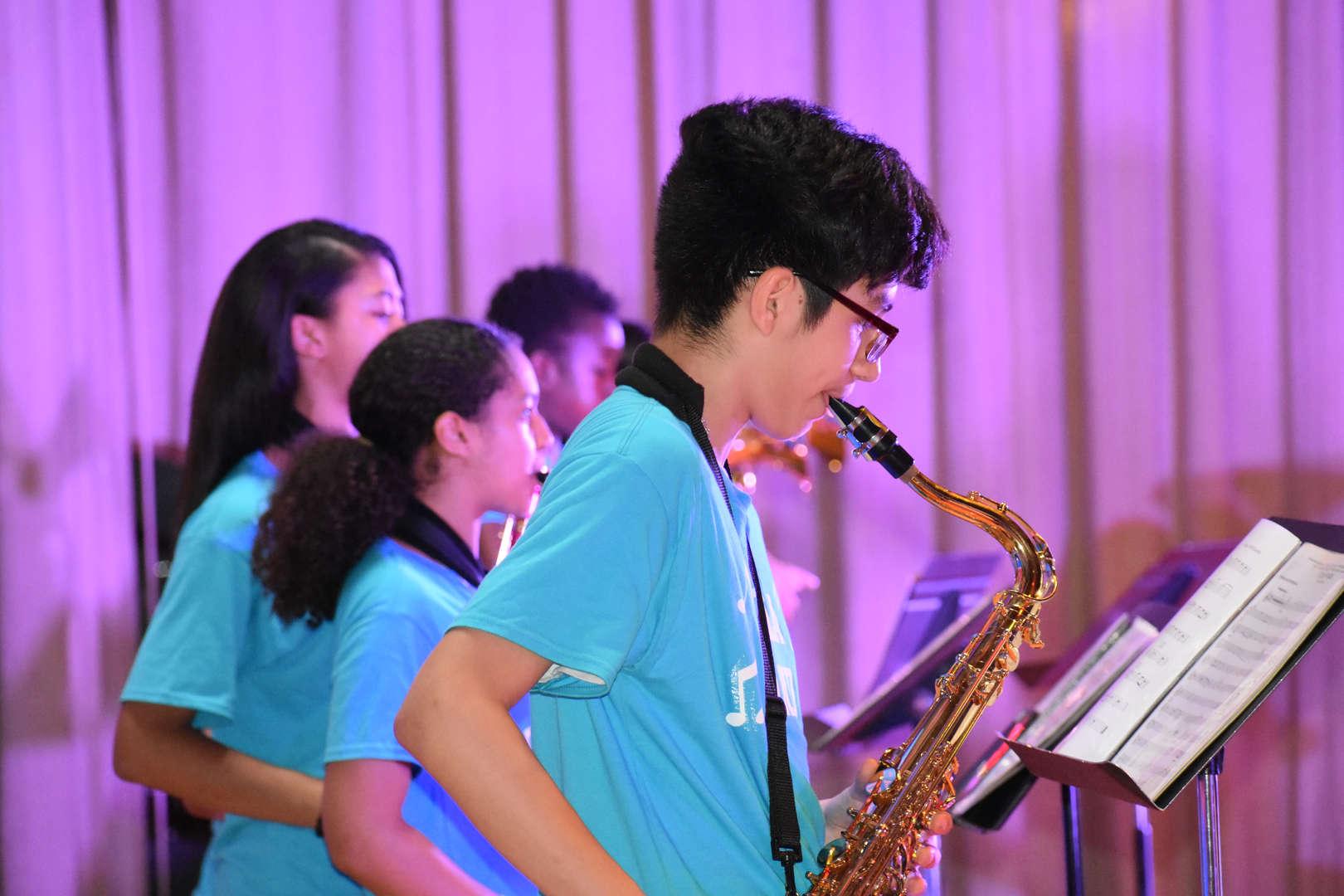 NSLA Band performing