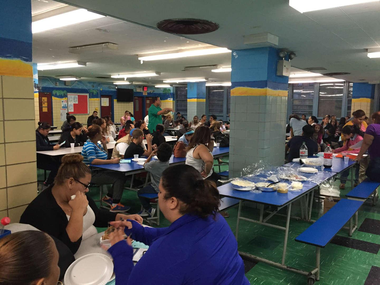 NSLA PTA Meeting, Parents at a dinner workshop