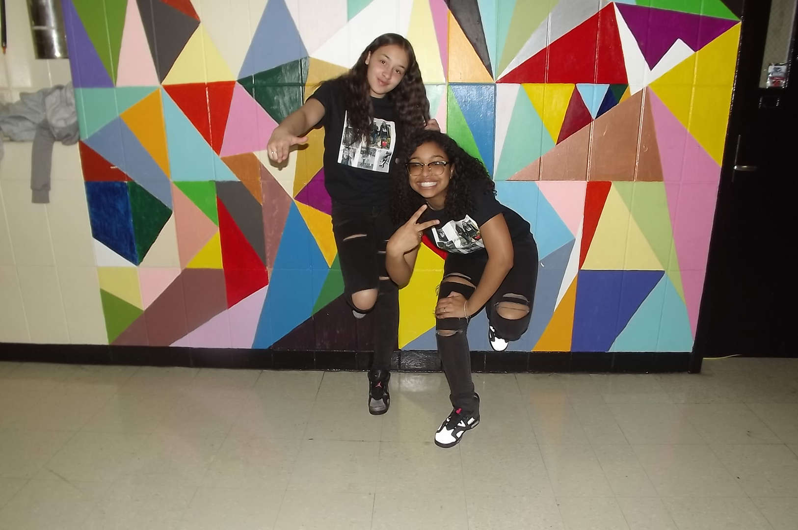 ripped jeans and tshirt twin day 2017-2018 Spirit Week #2