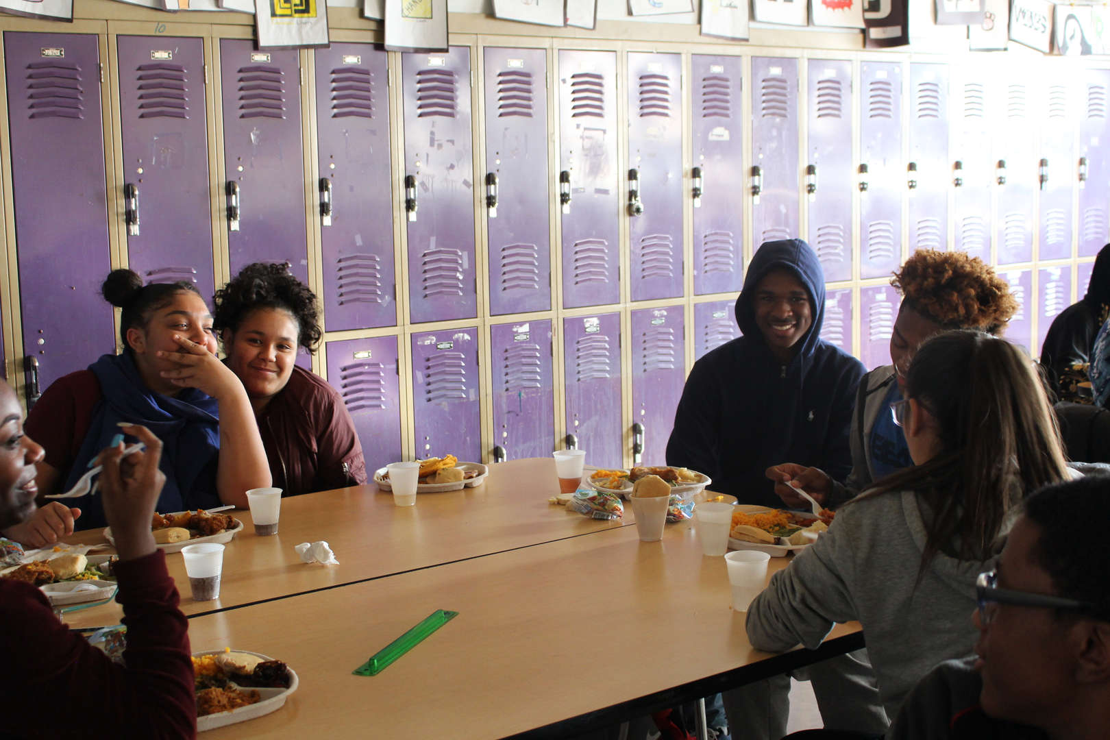 Students 2 room 348 Thanksgiving Feast 2017