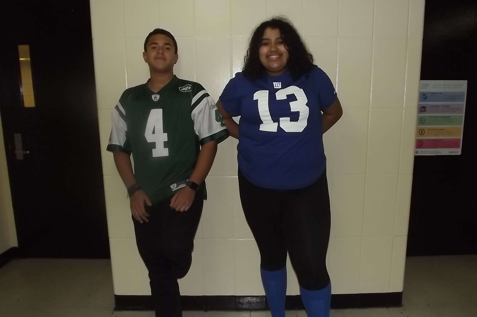 giants and jets jersey 2017-2018 Spirit Week #2
