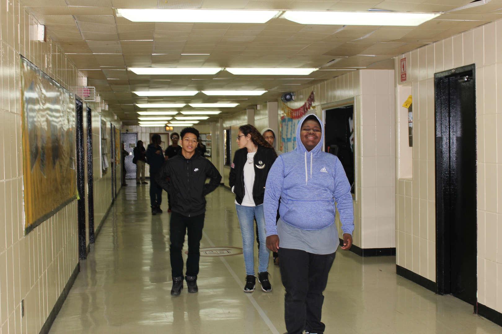 walking the halls Thanksgiving Feast 2017