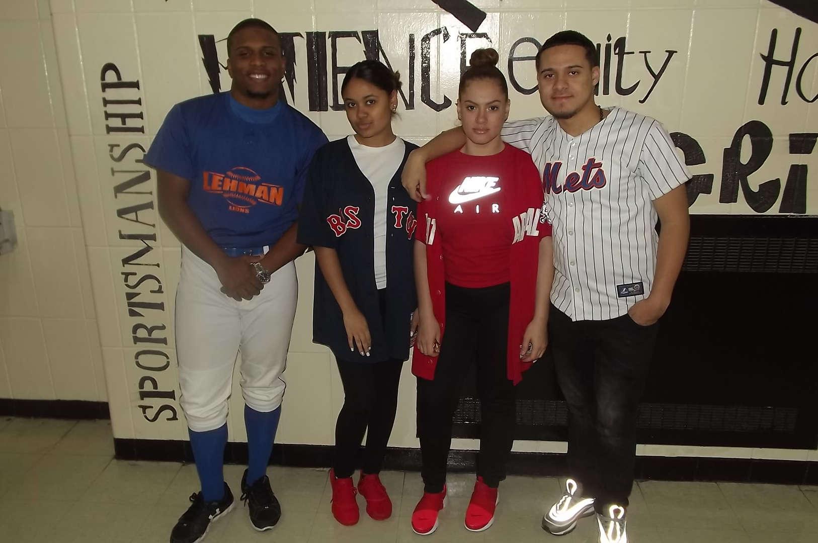 students with baseball shirts sports day 2017-2018 Spirit Week #2