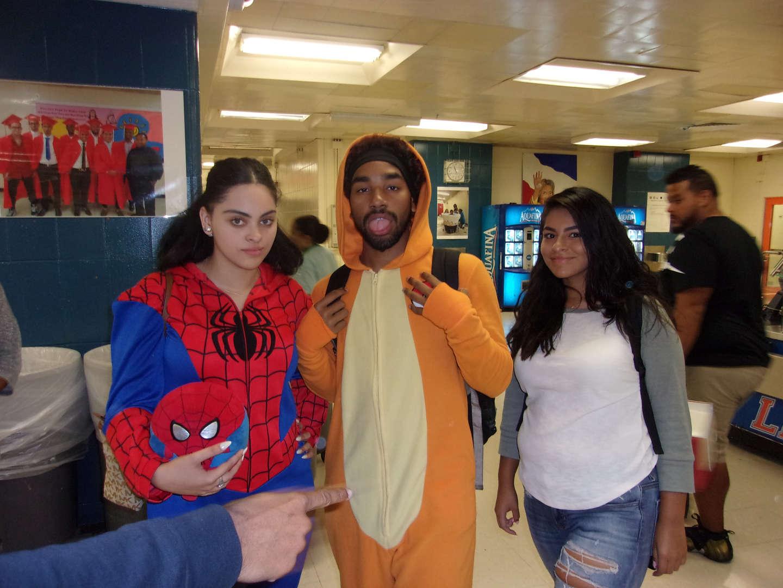 spiderman and tigger pajama day 2017