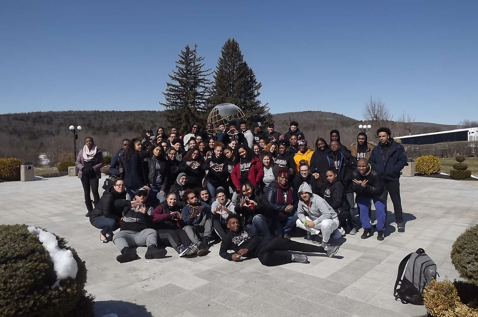 class of 2018 on trip