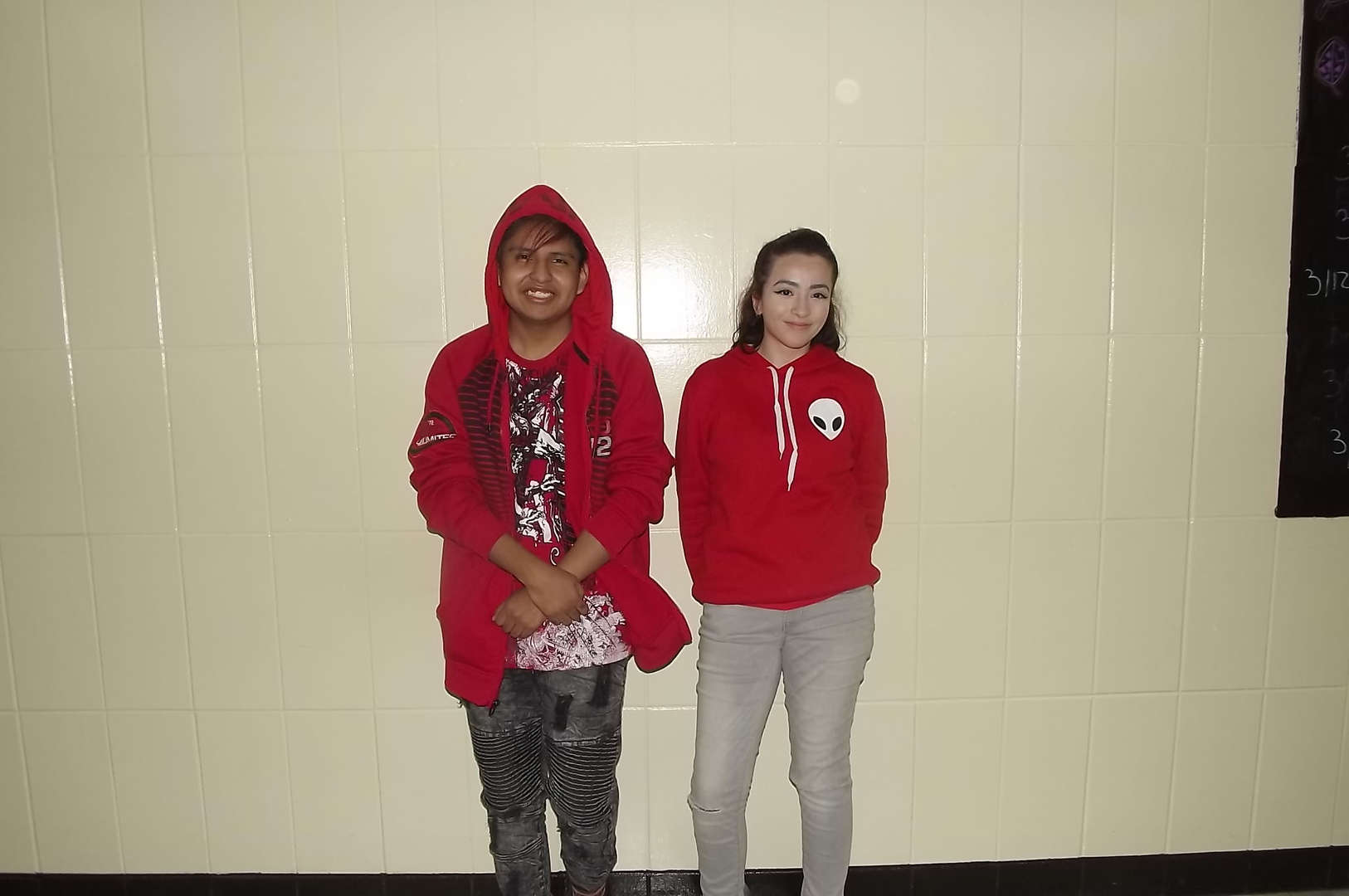 red sweater twin day