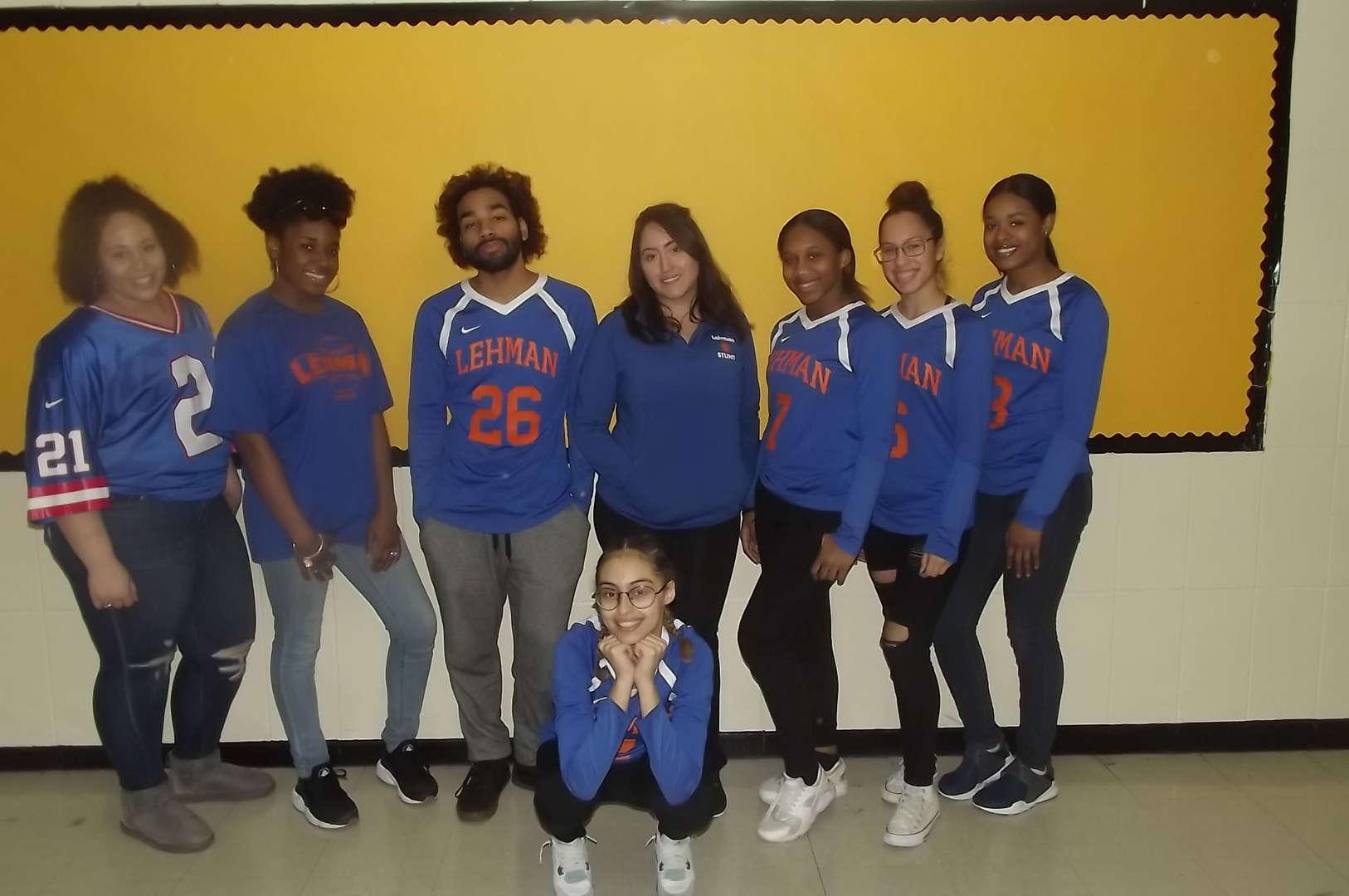 Lehman cheer students for sports day 2017-2018 Spirit Week #2