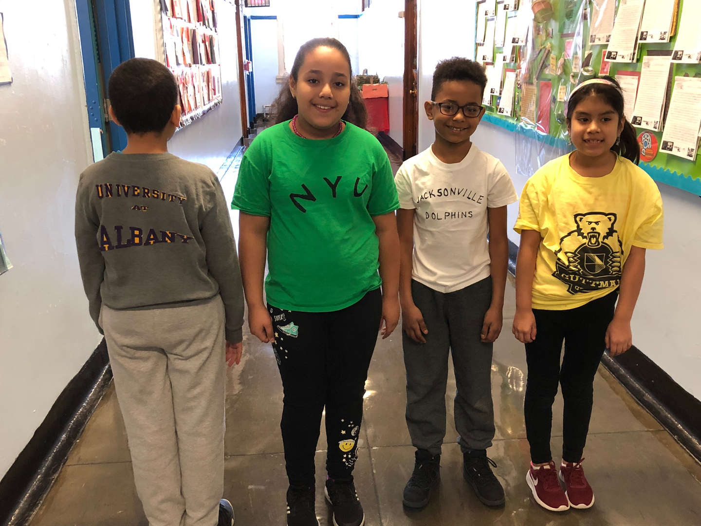 Students and staff dressed for College Awareness Day 2019