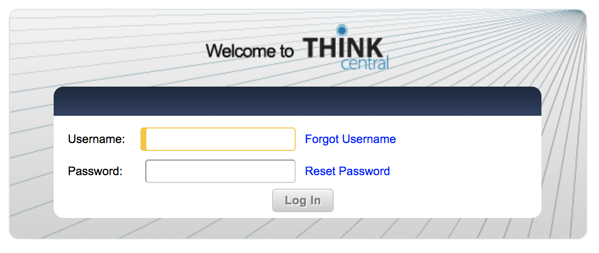 Open the ThinkCentral login page in a separate tab.