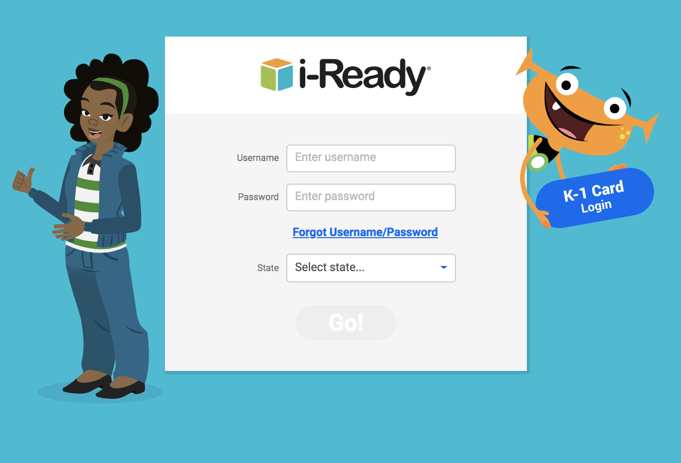 Open the i-Ready login page in a separate tab.