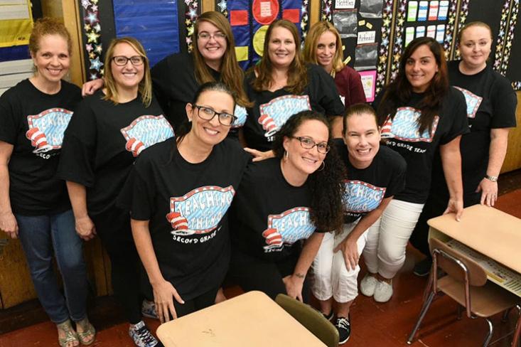Ten second grade teachers from PS44.